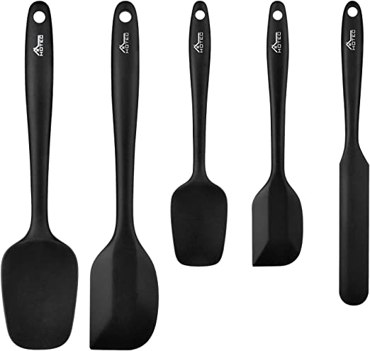Premium Quality Silicone Spatula Wooden Handle Heat Resistant Fast /& Free