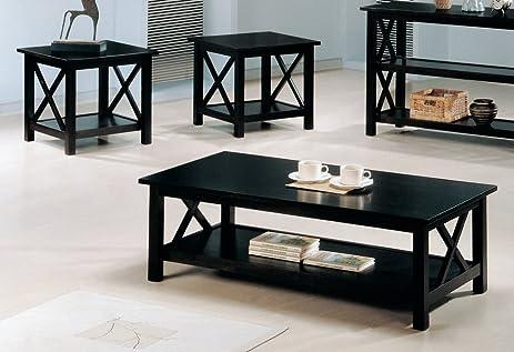 Amazon.com: Coaster 3-Piece X-Design Occasional 3-Piece Table Set ...