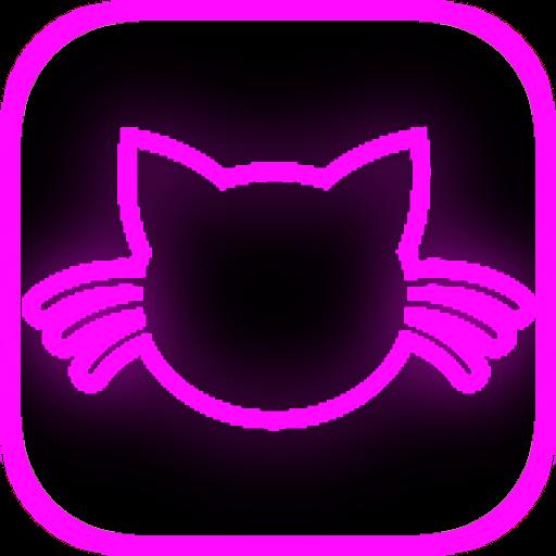 (Kitty Cat Clicker Neon )