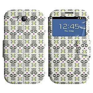 LEOCASE Increíble Patrón Funda Carcasa Cuero Tapa Case Para Samsung Galaxy S3 I9300 No.1001968