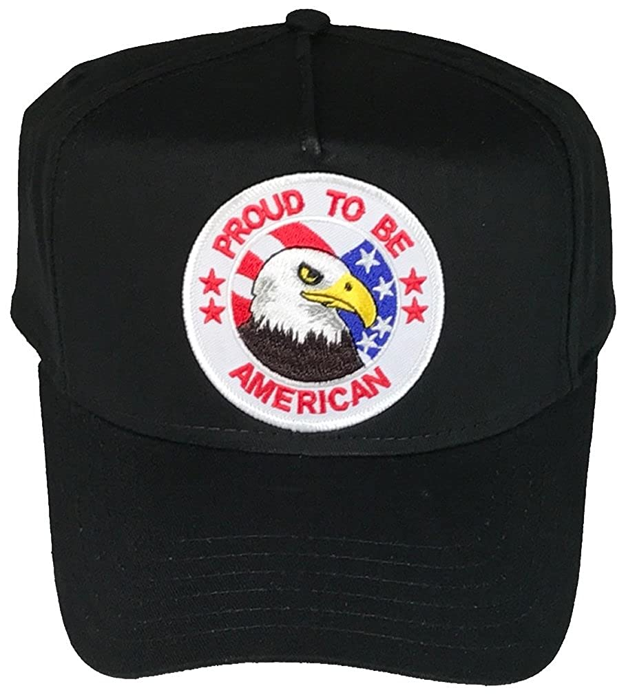 Veteran Owned Business BLACK PROUD TO BE AMERICAN W// BALD EAGLE HAT