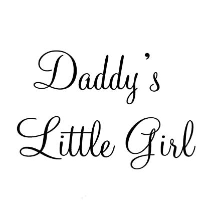 amazon com daddy s little girl nursery wall decals cute baby quote
