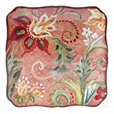 Certified International 25830 Spice Flowers Square Platter, 12.25-Inch, Multicolor