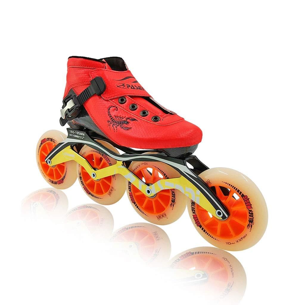 Ailj インラインスケート 初心者の高い弾力性と高い耐摩耗性PU4X100MMホイール 子供用大人用シングルロースケート 2色 色 新作 日本全国 送料無料 : B サイズ さいず EU 21.5cm UK JP 1 2 B07QGDF1RC 33 34 US 22cm 3
