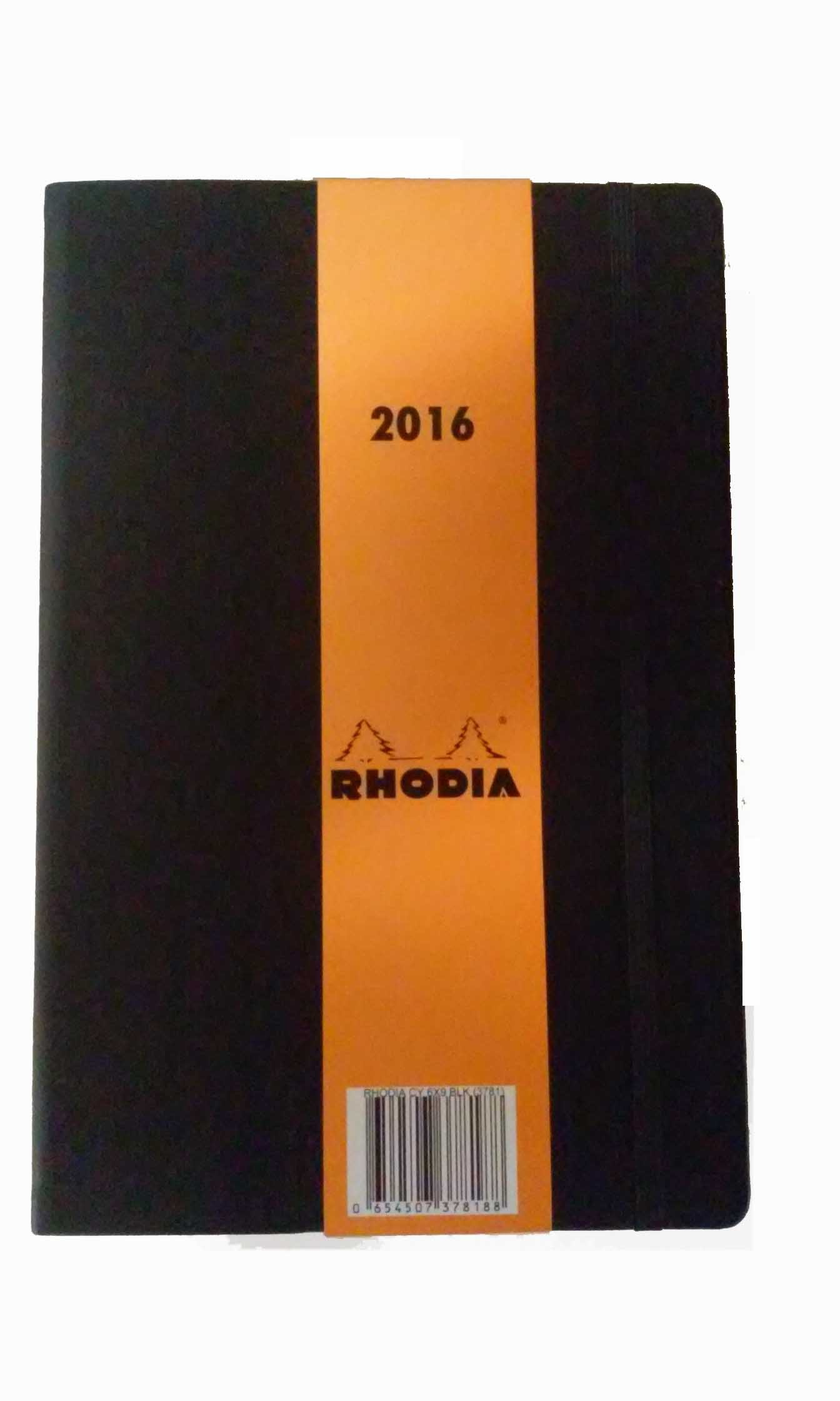 Rhodia For 2016 Diary with Note Paper 6'' x 9'' (Black)