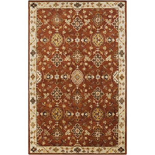 Diva At Home 8' x 11' Moroccan Avenue Burnt Sienna and Gold Wool Area Throw Rug (Rug Burnt Sienna Wool)