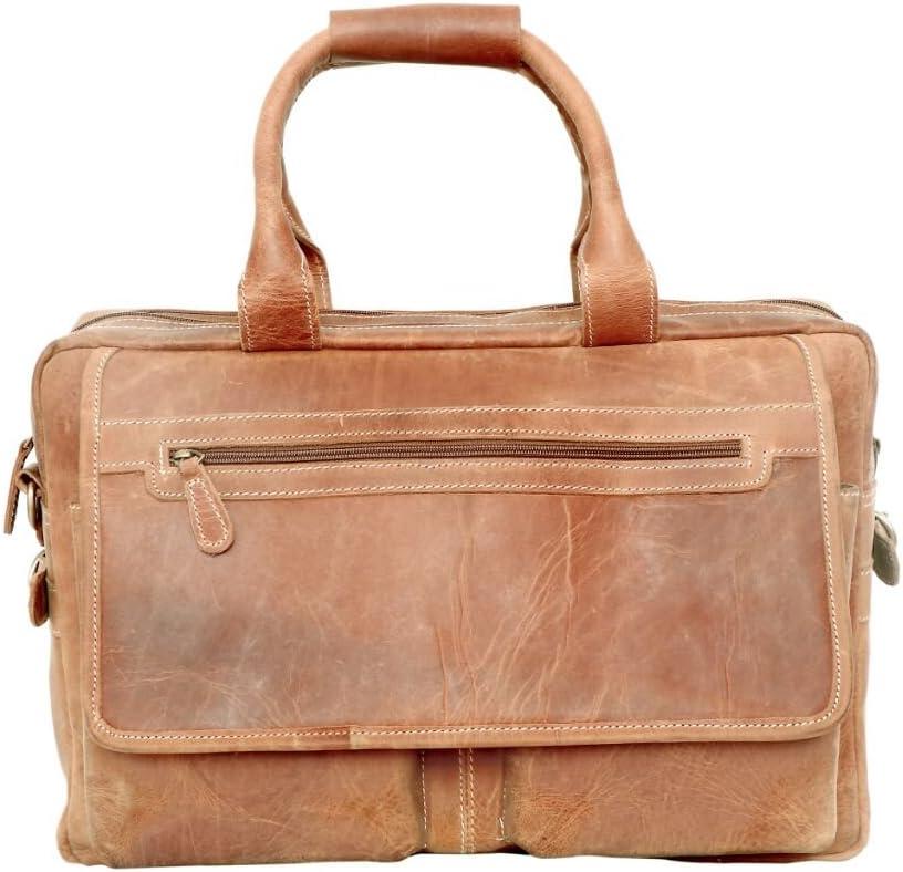 16 inch Sperry Leather Vintage Style Messenger Bag Portfolio Briefcase Laptop Case for Men brifcase