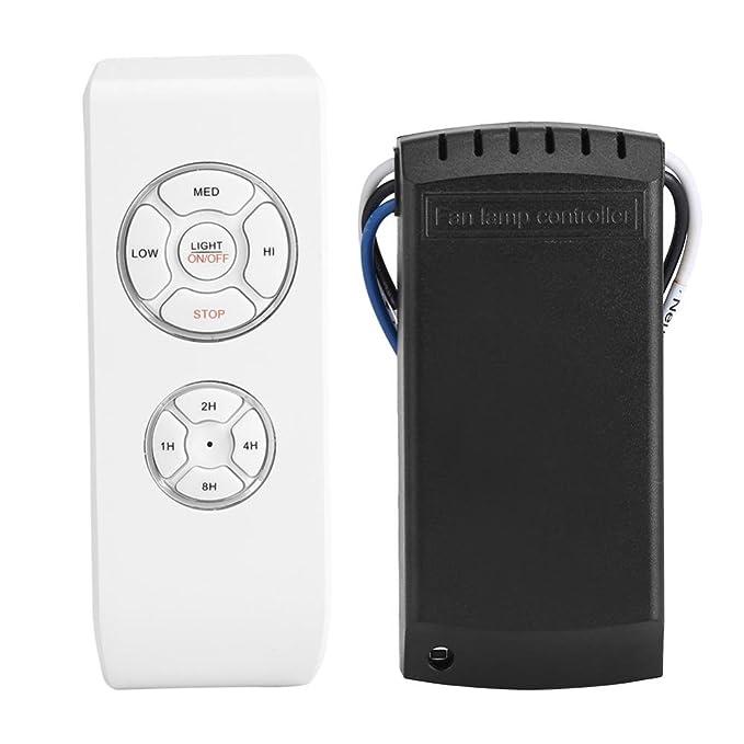 Control Remoto Ventilador Techo 4 Tiempos 3 Velocidades Mando a Distancia Ventilador Techo Universal Inalámbrica Blanco: Amazon.es: Hogar