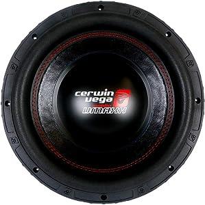 Cerwin-Vega Mobile CERVMAXX8D4 VMAXX8D4 1,000-Watt 8 in. Dual 4-Ohm Subwoofer, Black