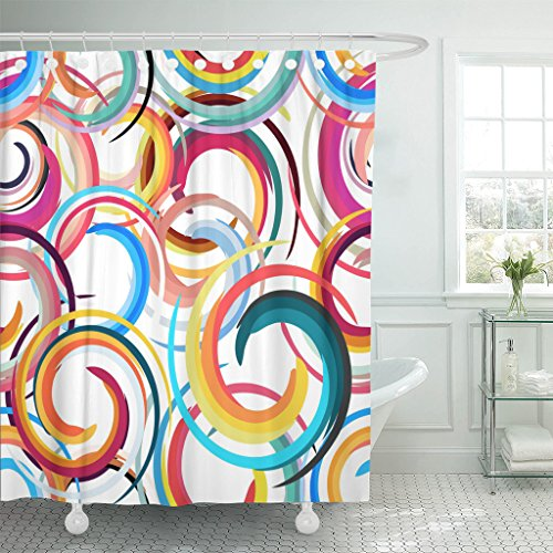 bright colored shower curtains - 3