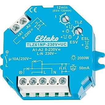 Temporizador de iluminación de escalera 12 1min TLZ61NP-230V: Amazon.es: Industria, empresas y ciencia