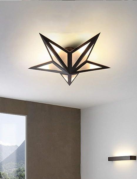 XHX Luces colgantes, lámpara de techo de hierro para sala de ...