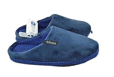 44cc6ddd69d7 de fonseca Man Slippers Slippers Padded Blue Fabric  Amazon.co.uk ...