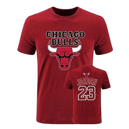 Shirts Chicago T Tops Basketball Team Shirt Manches Courtes Jordan Sports Bulls jLUVzMpGqS