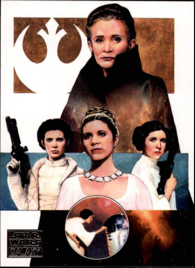 2018 Topps Star Wars Galaxy Non Sport Trading Card #18 The Skywalker Saga: Leia Carlos Cabaleiro Official Collectible Entertainment Card