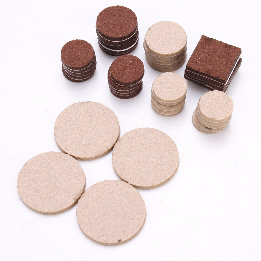 288 Piece Premium Furniture Felt Pads Maveek Furniture Feet Pads Brown 169 + Beige 119 Various Sizes Best Wood Floor Protectors Felt Furniture Coasters Protect Your Hardwood & Laminate Flooring by Maveek (Image #2)