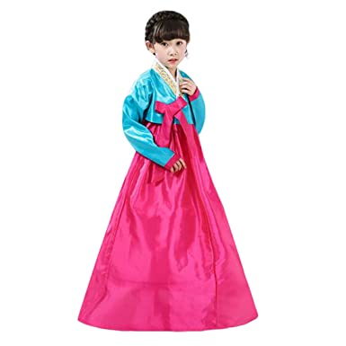 1d1526cd044 Amazon.com  Ez-sofei Girls Children Kids Korean Traditional Hanbok Dress  Cosplay Costume Set  Clothing