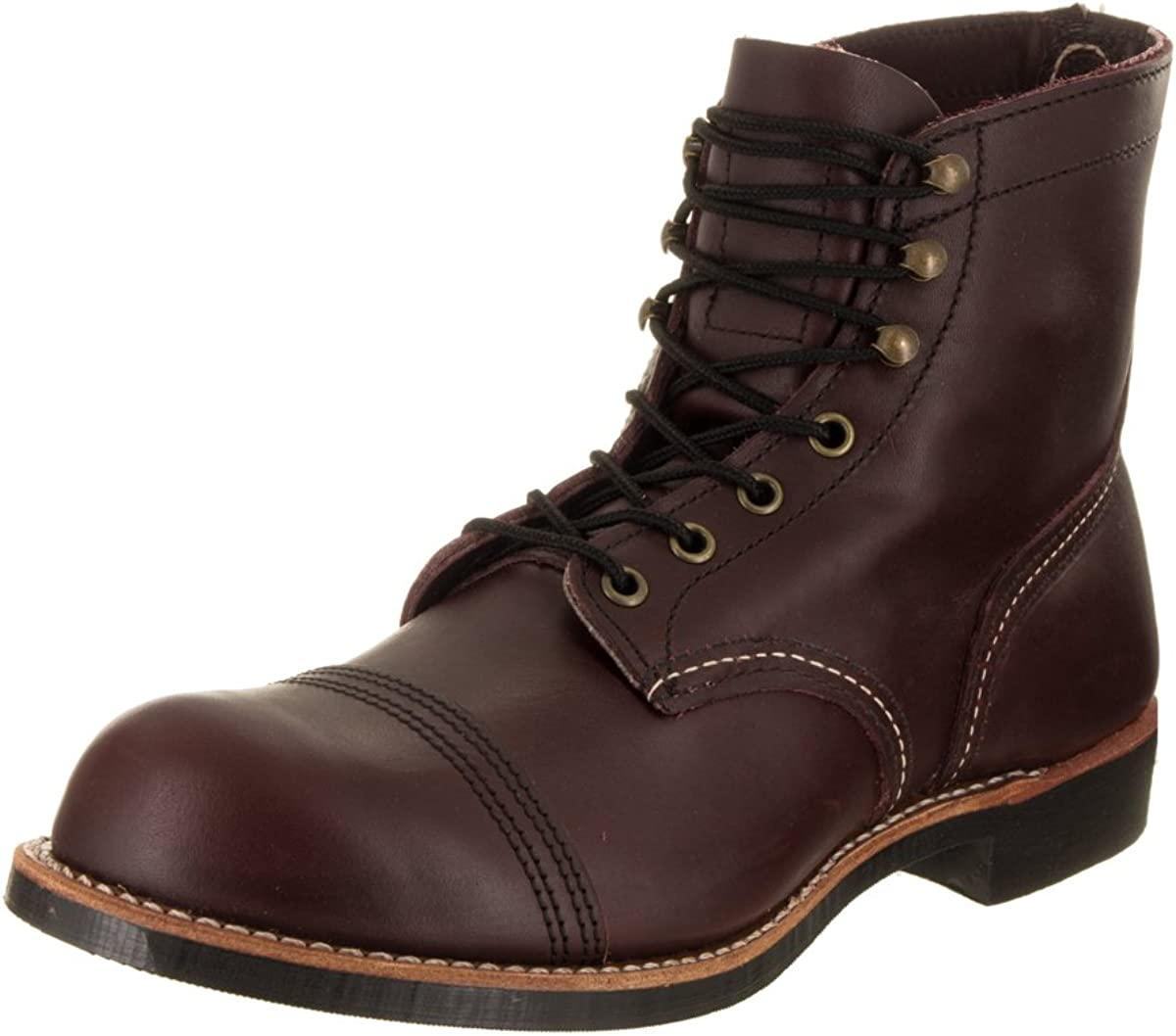 Men's Vintage Workwear Inspired Clothing Red Wing Heritage Mens Iron Ranger 6 Vibram Boot $339.95 AT vintagedancer.com