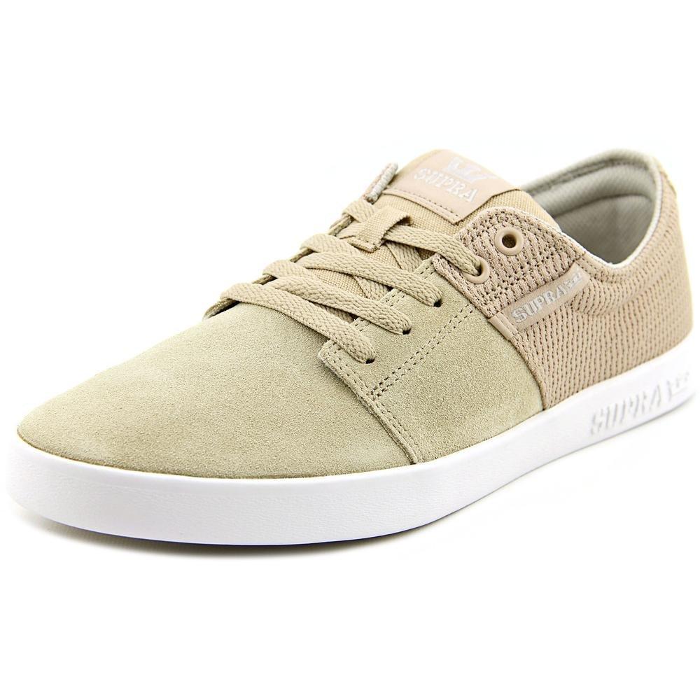 Supra Men's Stacks II Skate Shoe Medium / 10 C/D US Women / 8.5 D(M) US Men|Tan - White