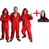 Salvador Dali Movie Costume Money Heist The House of Paper La Casa De Papel Cosplay hoodie Halloween Party Costumes with brooch Face Mask