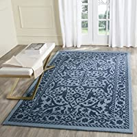 Safavieh Restoration Vintage Collection RVT102E Handmade Blue and Dark Blue Wool Runner (23 x 8)