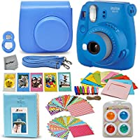 Fujifilm Instax Mini 9 Instant Camera + Accessory Kit, Includes: Custom Mini 9 Case with Strap + Assorted Frames + Photo Album + 4 Color Filters + Large Selfie Mirror + MORE