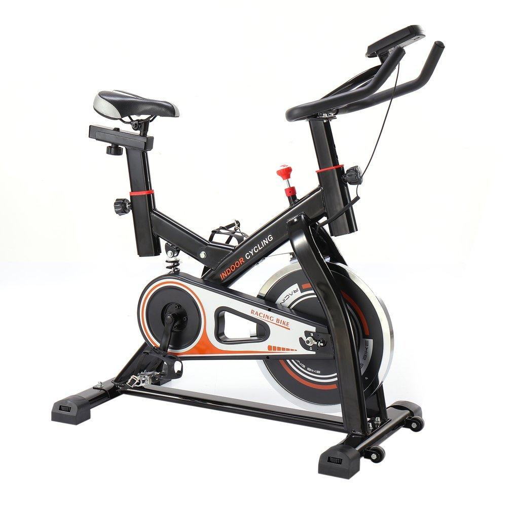 Schwarzpoolal CY-S501 Indoor Cycling Bike Hometrainer Fahrrad Heimtrainer Fitness Cycle Trimmrad Fitnessbike Fahrradtrainer Ergometer Fahrrad bis 120KG
