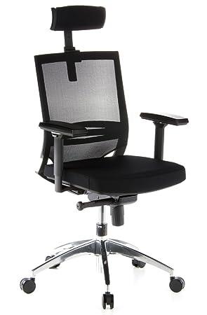 Hjh OFFICE 657240 Chaise De Bureau PORTO MAX Noir Siege Grande