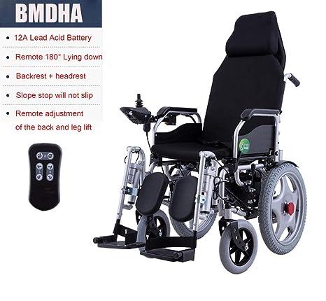 BMDHA Silla de Ruedas de enfermería - Multifuncional Inteligencia Completa Adecuado para Personas Mayores/discapacitados Completamente electrico Scooter ...