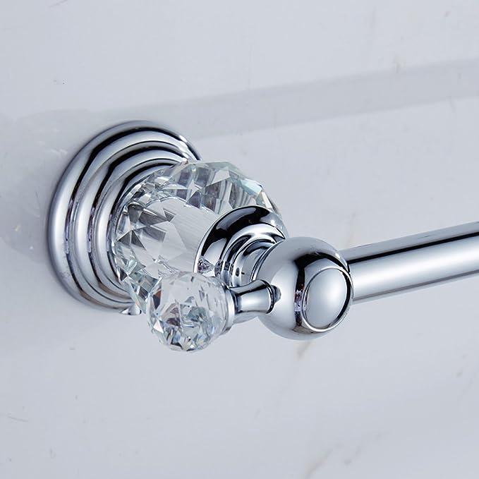 Auswind Polish Crystal Towel Bar 23 Inch Chrome Finish Wall Mount Towel Rack Bathroom Accessories Home Kitchen Amazon Com