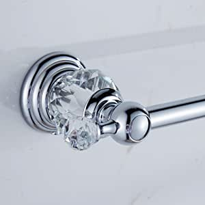 Amazon Com Auswind Polish Crystal Towel Bar 23 Inch Chrome Finish Wall Mount Towel Rack Bathroom Accessories Home Kitchen