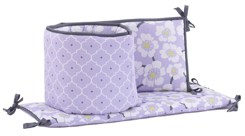 Balboa Baby Lavender Poppy Collection Deluxe Four Piece Bumper - Lavender Poppy