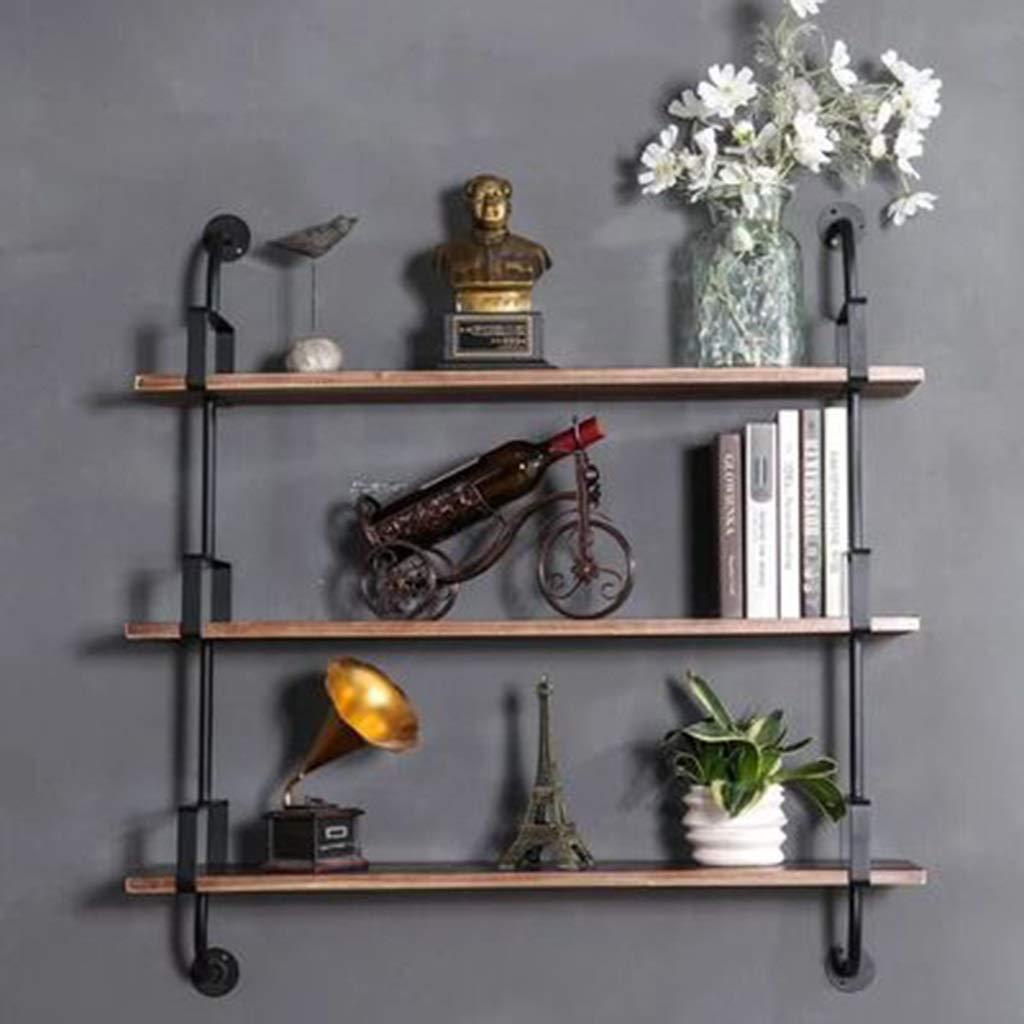 JJ_Industrial 壁のソファーの後部棚の純木の創造的な壁のキャビネットの積層物の錬鉄の仕切りの産業風の本だな (サイズ さいず : 80) B07RM1ZMMW  80