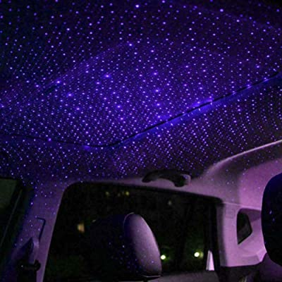Sizet USB Star Projection Laser 4 Modes Car Interior Roof Light Party Atmosphere Lamp 3 Color Ceiling Decoration Lighting: Automotive