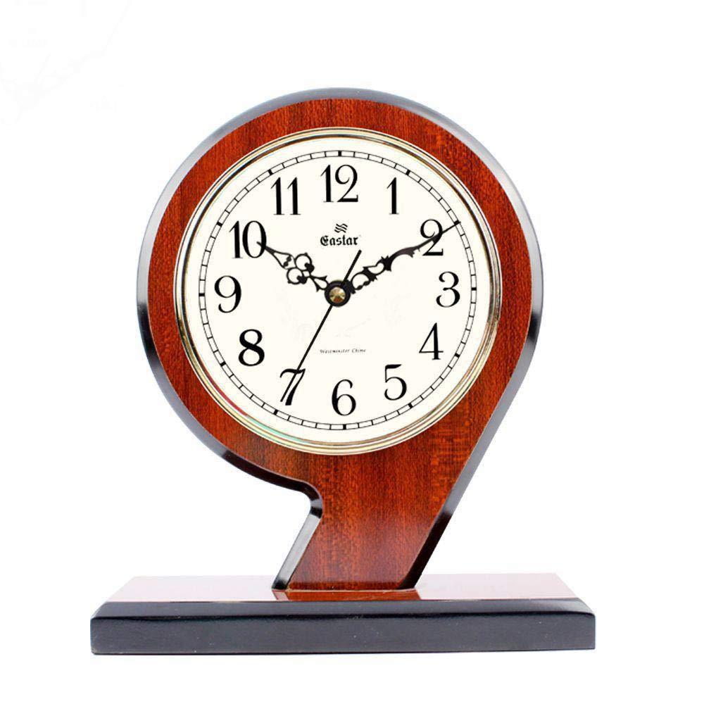MAlex Kaminuhren,Kreatives aus Holz Standuhr Wohn-Schlafzimmer solide Holz Quarz Uhr Tisch 210  85  245 mm