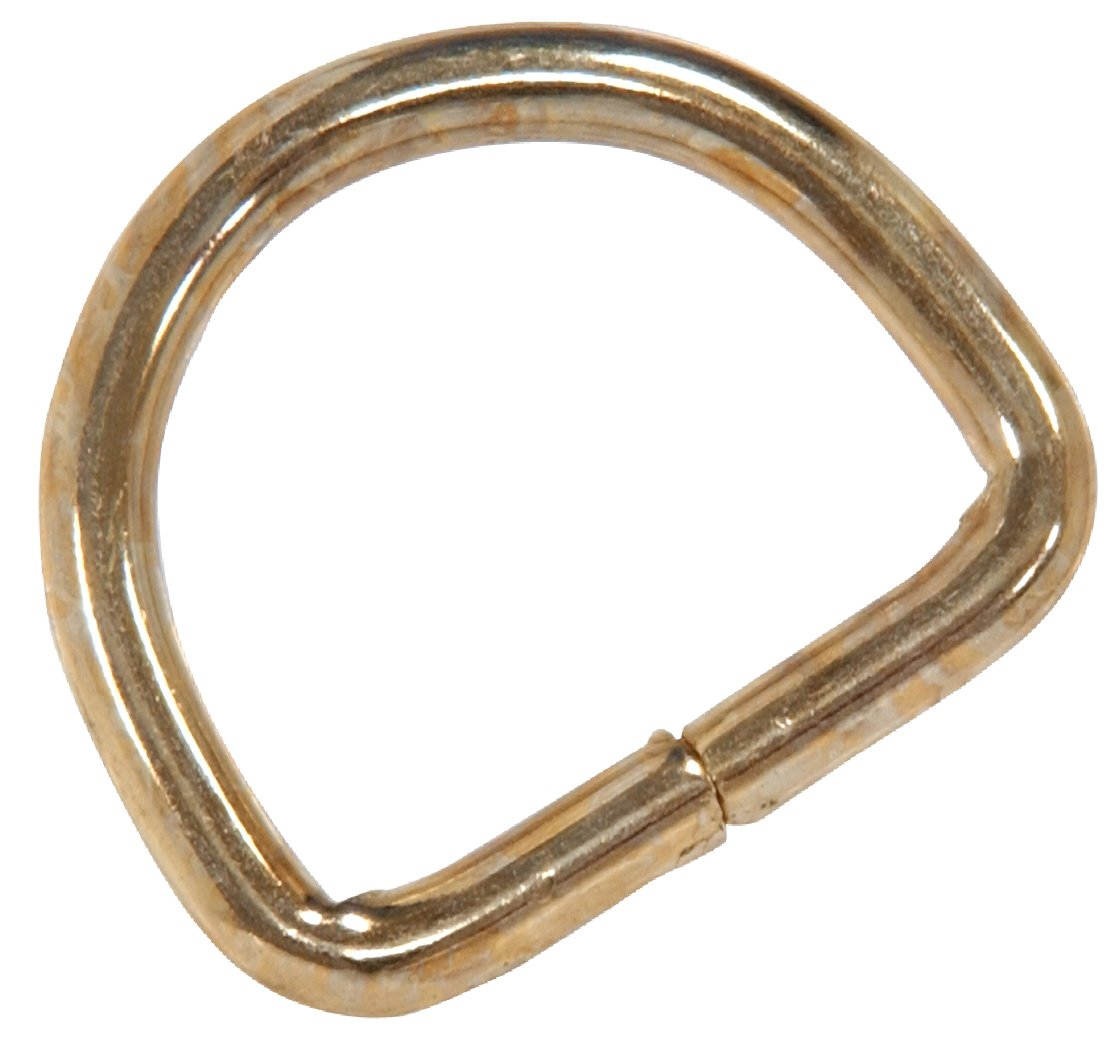 The Hillman Group 58434 1-1//8-Inch D-Ring 10-Pack Brass Plated