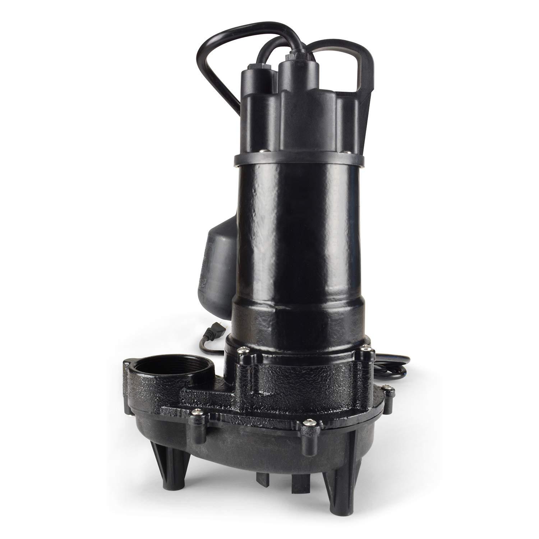 Black WaterAce WA33CSW Sump Pump 1//3 HP