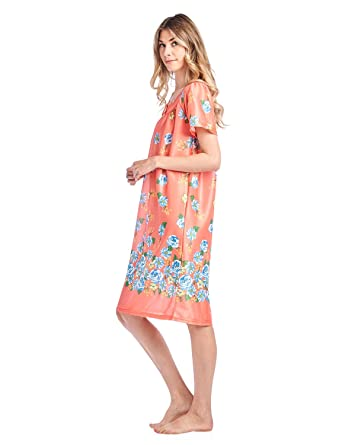 Casual Nights Women S Short Sleeve Muumuu Lounger Dress At Amazon