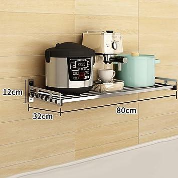 Estantes y soportes para ollas y sartenes Estante de cocina Estante montado en la pared Horno