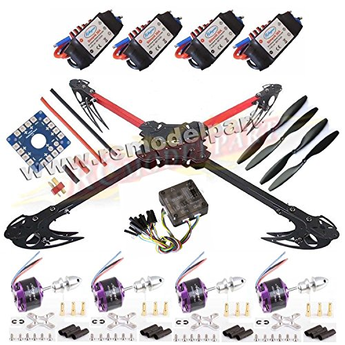 Hobbypower X525 V3 Quadcopter Foldable Kit with Sunnysky 1250KV Motor + CC3D Fight Control + SimonK 30A ESC for Multicopter