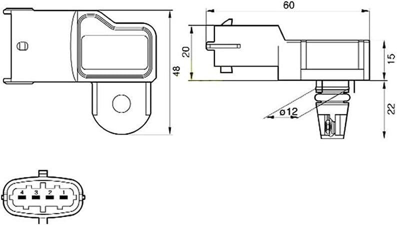 Colector Sensor De Presión De Aire Opel Opel Signum Vectra C 1.9 CDTI mapa 73503657