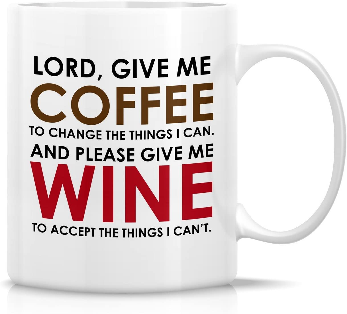 Retreez Funny Mug Lord Give Me Coffee And Please Give Me Wine 11 Oz Ceramic Coffee Mugs Funny Sarcasm Sarcastic Inspirational Birthday Gifts For Friends Coworkers Siblings Dad Or
