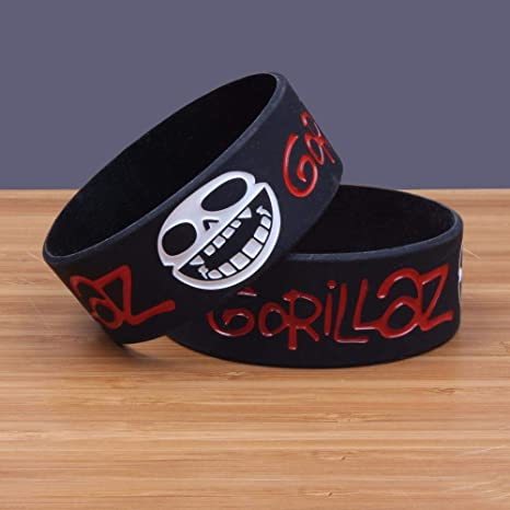 pantalones Uganda Silla  Bright love 5PCS Gorillaz Heavy Metal Rock Banda Silicona Pulsera Silicona  Wristband: Amazon.es: Hogar