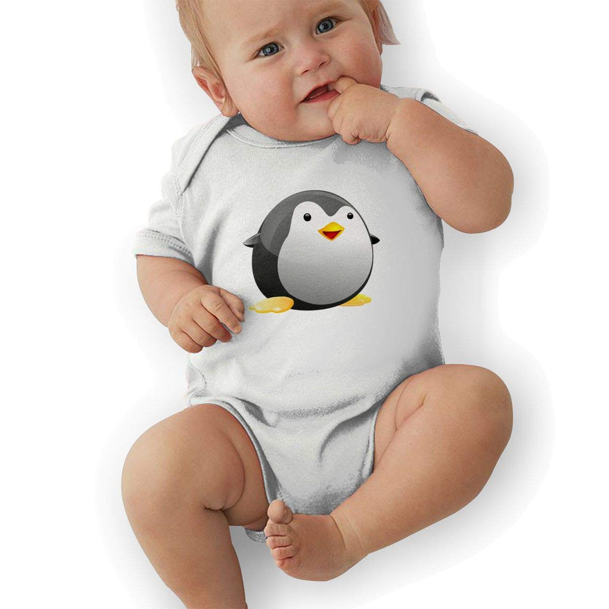 Amazon com infant baby girls bodysuit short sleeve onesie penguin fat cute print jumpsuit summer pajamas clothing