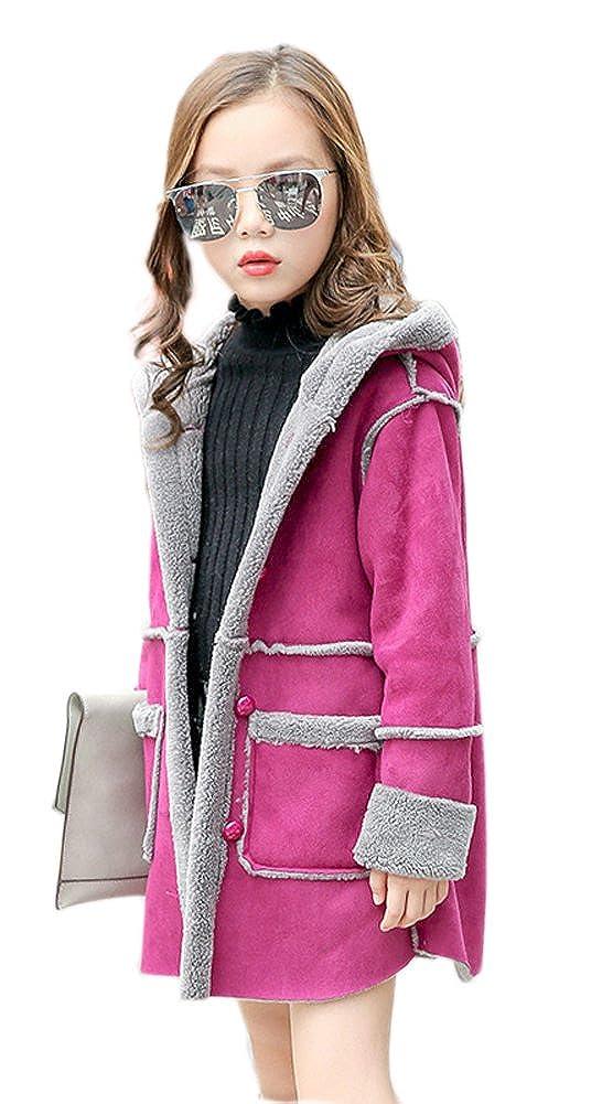 Kinder Jungen Mädchen Klassische Winterjacke Kindermantel mit Verdickte Lang Jacket Parka Outerwear