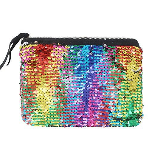 Evening Handbag Reversible Wallet Glitter Mermaid Women Colorful Purse Clutch Bag Sequins XqCIwdd