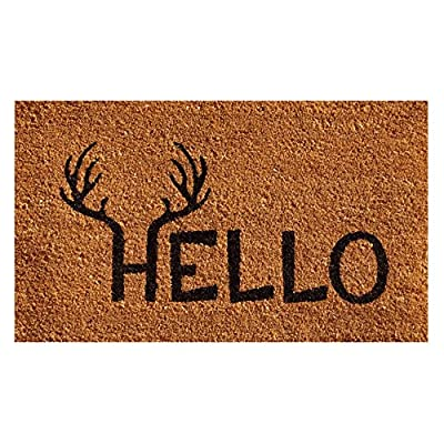 Home & More Antler Hello Outdoor Doormat