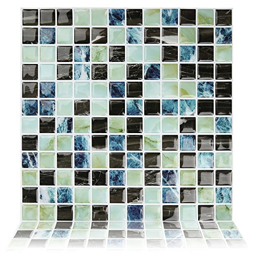 "Fertel 10""x10"" Self Adhesive Wall Tile Peel and Stick Bac..."