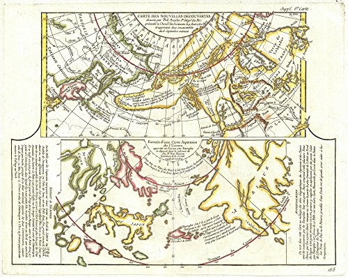 (Vintage Map of Alaska, the Pacific Northwest and the Northwest Passage, 1772 - 32