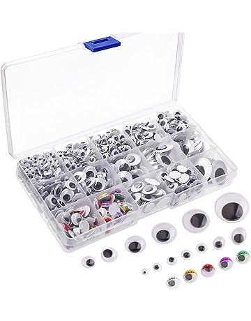 Kuuqa 1200 piezas de plástico autoadhesivo Wobbly Googly Wiggle Eyes para DIY Craft Scrapbooking Accesorios,